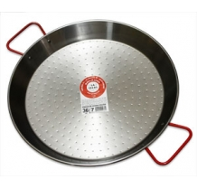 Polished steel paella pans