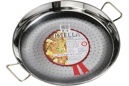 La Ideal - Paella Valenciana Acero Inoxidable 24 cm