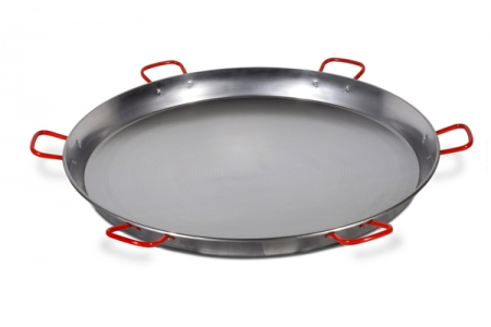 130 cm Polished Steel Paella Pan 1