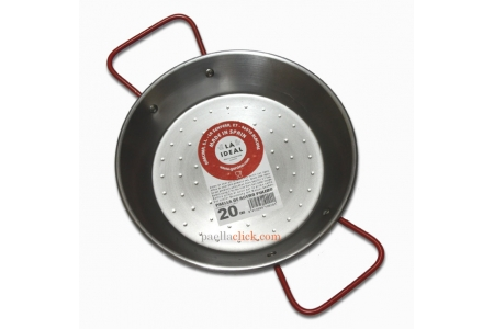 22 cm Polished Steel Paella Pan