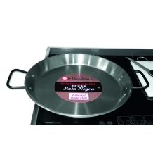 30 cm Polished Steel Flat Bottomed Paella Pan