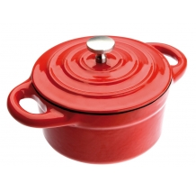 Ibili - Round Mini Casserole, Red