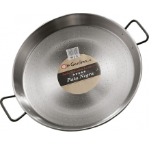 "55 cm ""Pata Negra"" Polished Steel Paella Pan"
