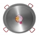 90 cm Polished Steel Paella Pan