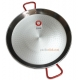 55 cm Polished Steel Paella Pan