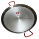 60 cm Polished Steel Paella Pan